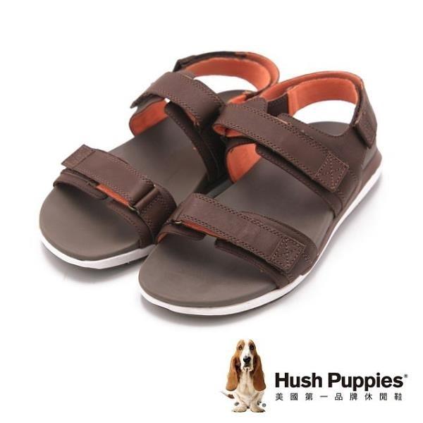 【南紡購物中心】Hush Puppies 機能健走系列ACTUALLY QUICK 涼鞋 男鞋-棕(另有藍)
