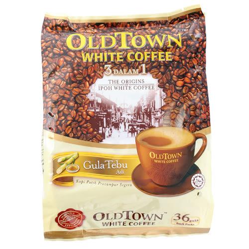 舊街場三合一天然蔗糖白咖啡36g*15【愛買】