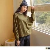 台灣製造。純色簡約休閒飛鼠連袖長袖上衣 OrangeBear《AB14162》