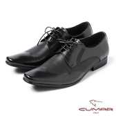 CUMAR男鞋 英式型男簡約皮鞋-黑