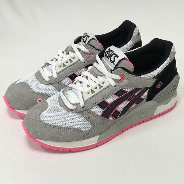 【NG出清】Asics Tiger Gel-Respector 灰 黑 粉紅 運動鞋 女鞋 左後跟髒污,右鞋頭中底發黃【PUMP306】
