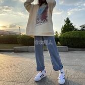 牛仔褲女秋冬高腰顯瘦百搭直筒寬鬆垂感2021年新款 【快速出貨】
