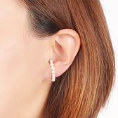 [現貨] itam 日本製 珍珠樂園耳掛/鉤形耳環(金) (HE003A)