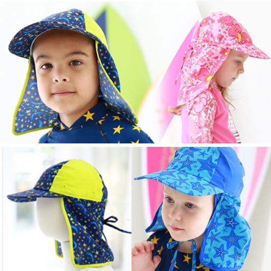 防曬泳帽 遮陽帽 抗紫外線遮陽泳帽 彈性很好 兒童 橘魔法 Baby magic 現貨 童 泳裝 男童 女童 泳衣