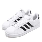 adidas 休閒鞋 Grand Court 白 黑 皮革鞋面 基本款 男鞋 運動鞋 小白鞋【PUMP306】 F36392