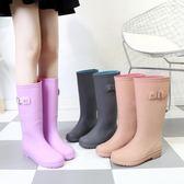 春秋回力雨鞋女高筒潮防滑成人時尚水靴長筒馬靴中筒水鞋洗車雨靴『小淇嚴選』