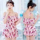 連身泳衣-時尚可愛俏麗青春裙式泳裝3色73mc47[時尚巴黎]