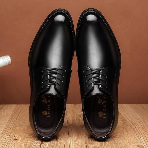 皮鞋正裝男士皮鞋男商務皮鞋黑色正韓尖頭好康新品青年潮鞋休閒皮鞋男