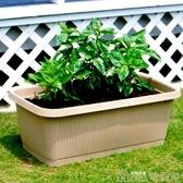 陽臺種菜盆愛麗絲種植箱塑料長方形大花盆700大蔬菜盆2個裝YYJ 歌莉婭
