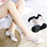 【中秋大降價】夏季卡通可愛女士短襪船襪學生透氣純棉隱形薄款水晶絲襪子