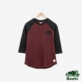 女裝ROOTS- 經典撞色棒球T恤-紅色