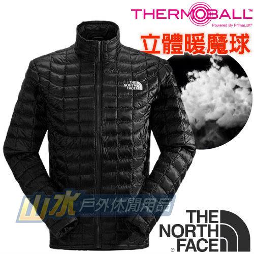 【山水網路商城】美國TNF 男 TB保暖外套 ThermoBall暖魔球/保暖衣/保暖纖維 C939 黑