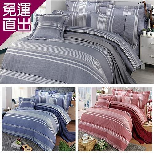 FITNESS 精梳棉雙人四件式兩用被床包組-安德里 (3款) 5*6.2【免運直出】