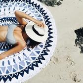 戶外海邊便攜超輕防沙野餐布墊子席必備用品 圓形防潮水沙灘地墊  糖糖日繫森女屋