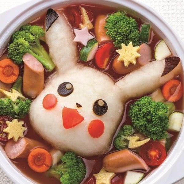 [霜兔小舖] 日本製 神奇寶貝 皮卡丘 造型 蔬菜 起司 火腿 海苔 飯模 模具 咖哩飯