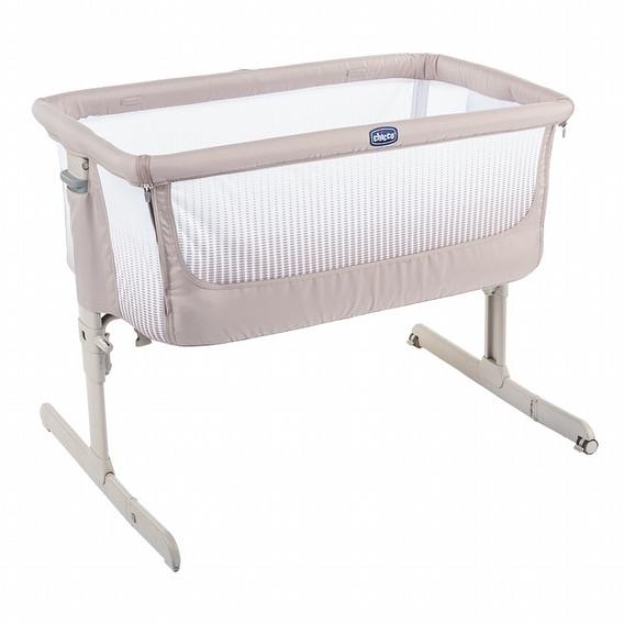 Chicco Next 2 Me多功能親密安撫嬰兒床邊床Air版-亞麻棕
