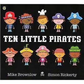 【麥克書店】TEN LITTLE PIRATES /英文繪本 《主題:幽默.童話故事.數數》