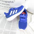 Adidas TENSAUR RUN C 中童 魔鬼氈 兒童跑步鞋 運動鞋 EG4144 藍【iSport愛運動】