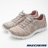 SKECHERS 女 運動系列 Empire 彈性腳套 休閒健走鞋 - 銀x褐 12414TPE