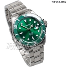 TIVOLINA 加強夜光 水鬼 槍魚系列 運動錶 男錶 放大日期顯示窗 不銹鋼 綠色 MAW3715NN