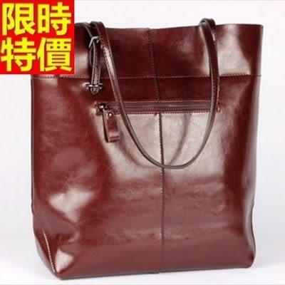 手提包-真皮簡潔百搭率性自然側背女包包4色68m32[巴黎精品]