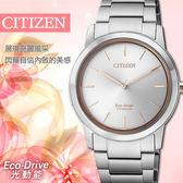 【公司貨保固】CITIZEN 星辰 Eco-Drive 輕量鈦金屬光動能時尚女錶 FE7024-84A