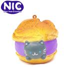 灰貓款【日本正版】cafe SAKURA 捏捏吊飾 泡芙造型 捏捏樂 軟軟 Squishy - 625601