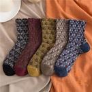 复古花边堆堆袜女纯棉中筒袜日系jk蕾丝长筒袜【橘社小鎮】