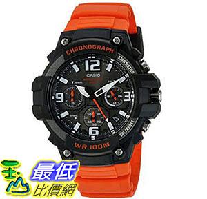 [美國直購] 手錶 Casio Men s  Quartz Stainless Steel and Resin Casual Watch, Color:Orange MCW-100H-4AVCF