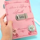 密碼本 帶鎖日記本筆記本子密碼本加厚韓版創意手賬本學生記事本記錄文具