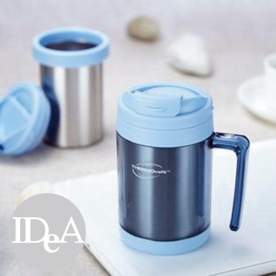 美國 THERMOS THERMO CAFE 450ml 真空不鏽鋼把手保溫杯 凱菲 保熱/溫/冷/冰 水壺瓶 太空 隨行 身