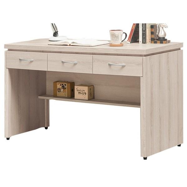 書桌 電腦桌 QW-655-4 艾瑪4尺三抽書桌 (不含其它產品)  【大眾家居舘】