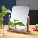 新款木質台式化妝鏡子 高清單面梳妝鏡美容鏡 學生宿舍桌面鏡大號