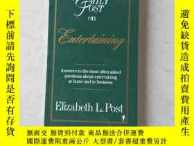 二手書博民逛書店Emily罕見Post on EntertainingY447092 Elizabeth L. Post Ha