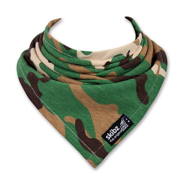 英國 skibz 軍綠迷彩時尚經典領巾
