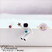 現貨不用等 韓國可愛宇宙太空人星星星球不對稱三件組耳針夾式耳環 S93077 批發價 Danica 韓系飾品