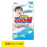 GOO.N 日本大王境內版-紙尿褲L(54片X4包)