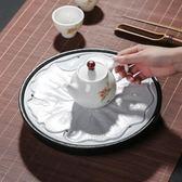 粗陶大號茶盤儲水式陶瓷茶盤家用
