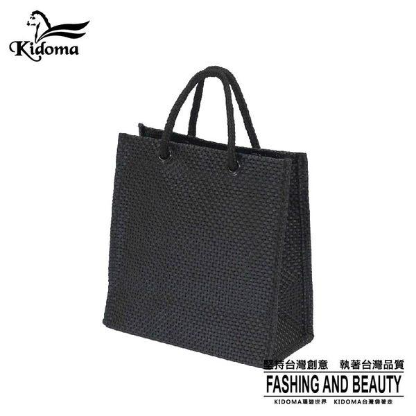 手提袋-編織袋(S)-黑-03C
