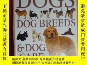 二手書博民逛書店16開硬精裝罕見英文版The Ultimate Encyclopedia of Dogs DOG BREEDS&