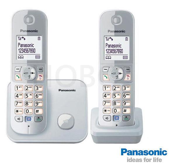 Panasonic 國際牌 KX-TG6812 TW DECT 數位無線電話 (銀/黑)  公司貨保固2年