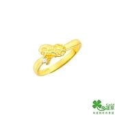 幸運草金飾 美好花生黃金戒指