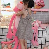 夏季裝中小女兒童純棉甜美可愛碎花吊帶無袖百褶公主裙
