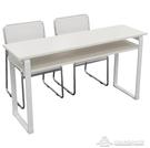會議桌 教育機構培訓桌雙人位簡約現代桌椅組合會議桌長條桌定制 【快速出貨】