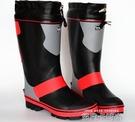 新高筒夏天鋼釘底防滑款戶外釣魚 爬山男款雨鞋雨靴戶外礁鞋磯鞋 依凡卡時尚