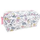 【日本進口正版】貓咪收集 帆布 大筆袋 鉛筆盒 收納包 化妝包 Neko atsume - 427808