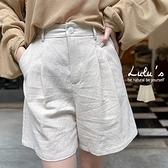 LULUS【A04210105】C麻料短褲S-M杏