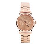 【COACH】小款錶盤馬車圖案女錶(玫瑰金) 14502977