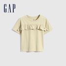 Gap女幼童 純棉荷葉邊蝙蝠袖T恤 689390-卡其棕