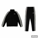 ADIDAS 男 3-Stripes Woven Cuffed 黑色運動套裝 外套 褲子 - DV2464